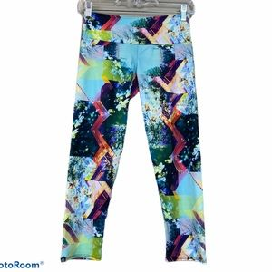 Onzie Multi color printed crop yoga leggings